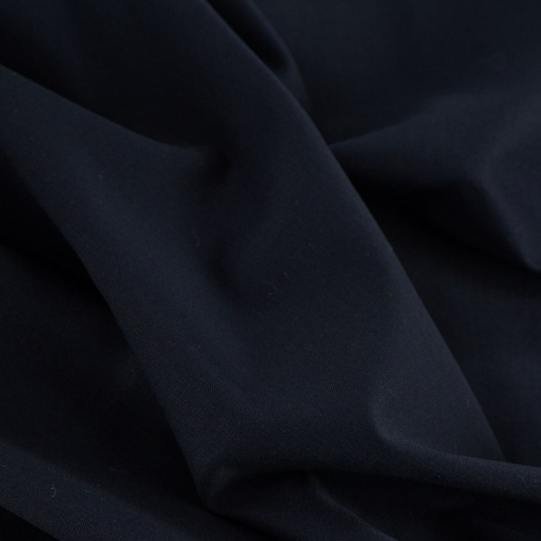 Rest Gabardine EDEL Hosenstoff dunkelblau 0,8 Meter