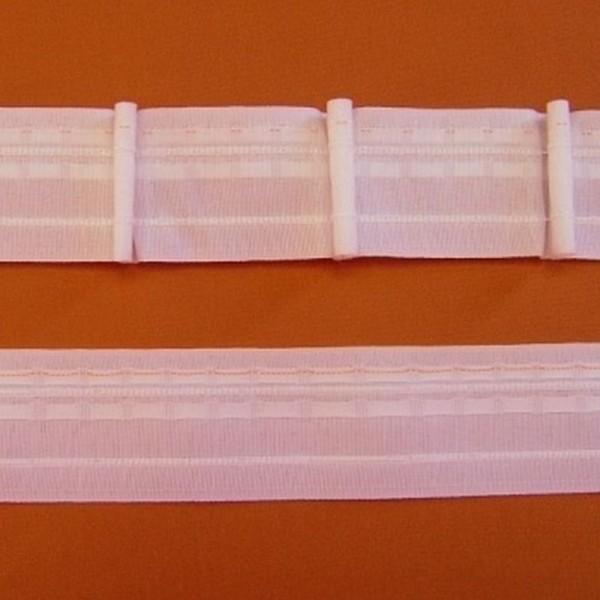 Gardinenband Automatikfalte TANGO 5 weiß - 1er-Falte