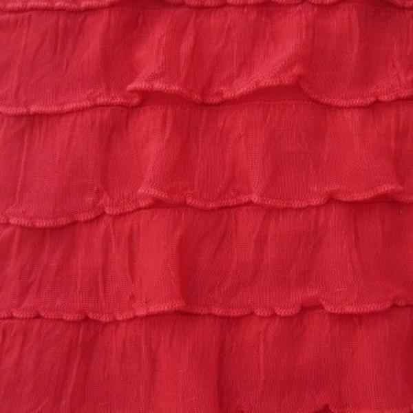 Rüschenstoff rot