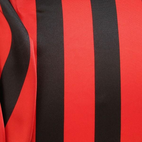 Satin STREIFEN rot-schwarz