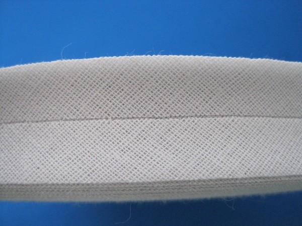 Schrägband Baumwolle 40/20 mm rohweiß (leicht grau)