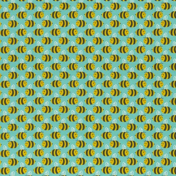 Jersey Stoff Bienen auf mint, Animal Minis by käselotti