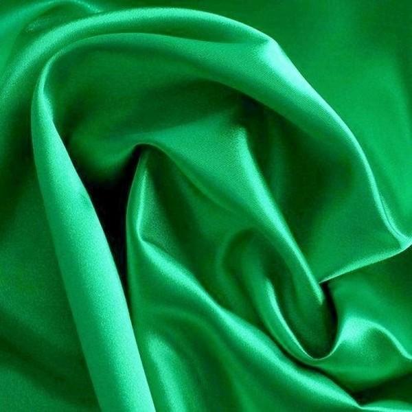 Kettsatin Polyester-Baumwolle grün