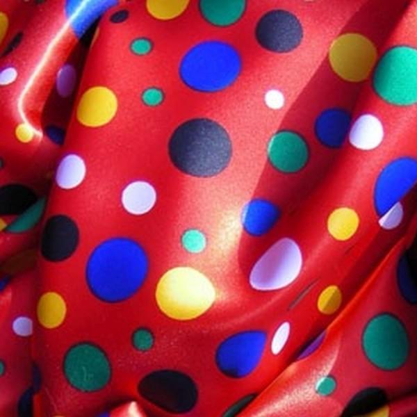 Satin CLOWN rot-multicolor