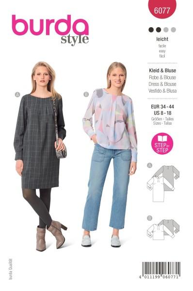 Burda Schnitt 6077 Kleid und Bluse
