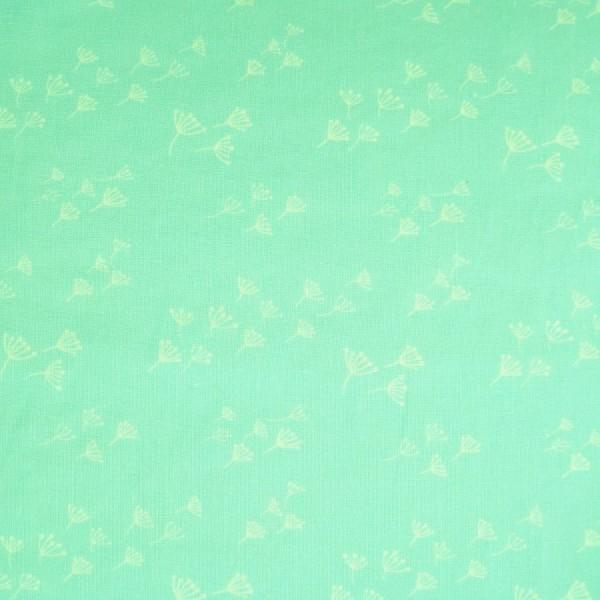 Leinenstoff mint-cremeweiß
