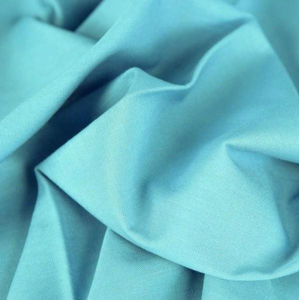 Baumwollstoff uni HEIDE blaugrau (leicht himmelblau)